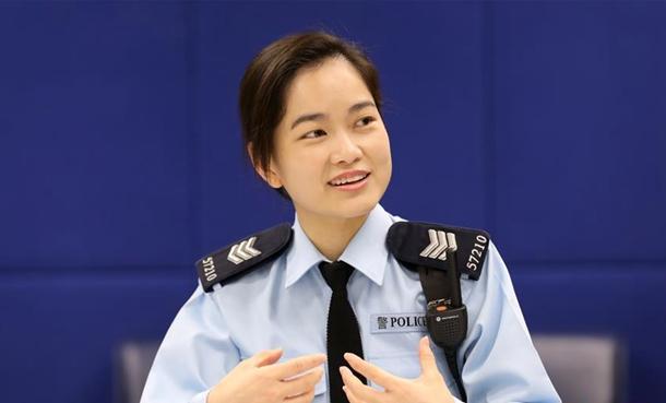 一位香港女警最想收到的妇女节礼物