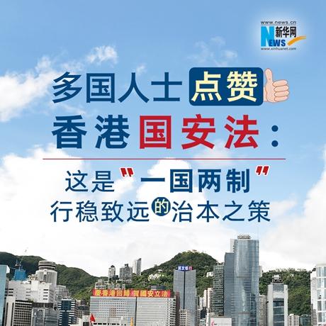 """【圖解】多國人士點讚香港國安法:這是""""一國兩制""""行穩致遠的治本之策"""