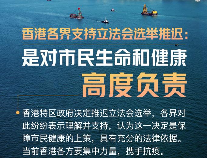 香港各界支持立法會選舉推遲:是對市民生命和健康高度負責
