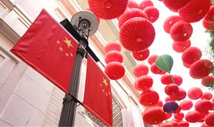 香港:街頭的中國紅