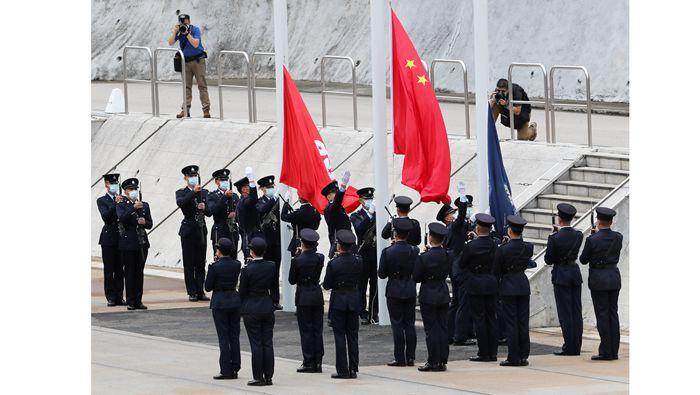 全球連線|香港警察:忠誠護國安 勇毅保家安