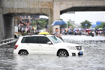 廣西柳州遭遇暴雨襲擊