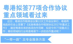 图说:粤港拟签77项合作协议