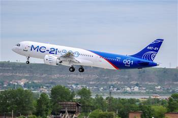 俄最新中短途幹線客機MC-21首飛成功