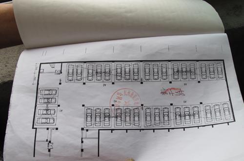 中国 杭州 车位/地下车库平面图并未注明是双层车位