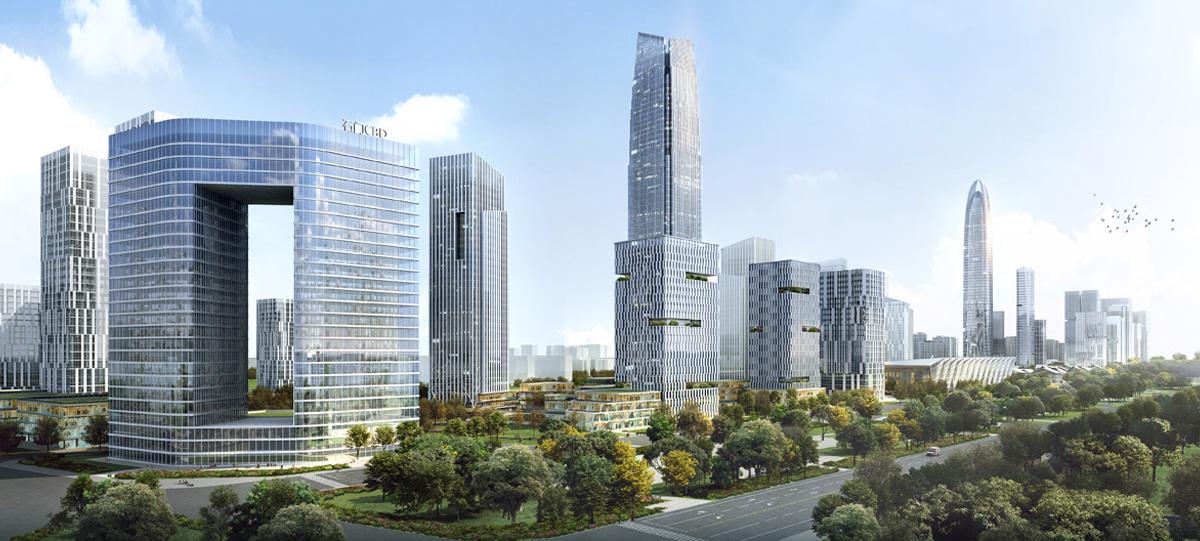 中央商務區金融商務北區將以5A甲級寫字樓聚集為群,南區將建設多功能為一體的綜合城市化辦公區域