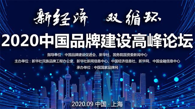 """""""新經濟 雙循環"""" 2020中國品牌建設高峰論壇"""
