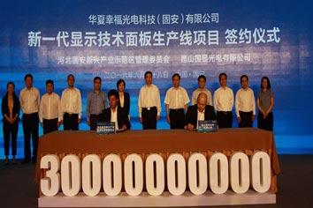創新與資本雙輪驅動 華夏幸福下屬子公司將投建第6代AMOLED項目