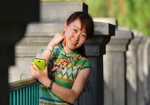 數碼模特珊珊帶你走中山公園看花展