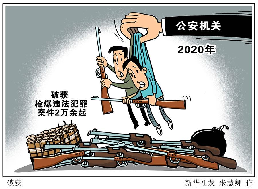 2020年公安机关破获枪爆违法犯罪案件2万余起