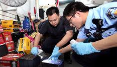 """上海警方嚴打""""盜三車""""團夥"""