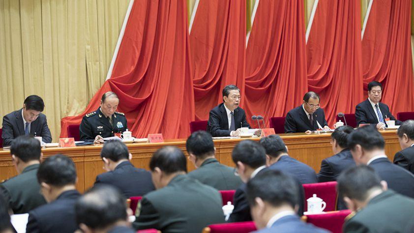 趙樂際在十九屆中央紀委三次全會上作工作報告