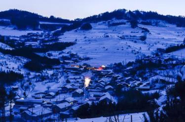 長白山區冬日美