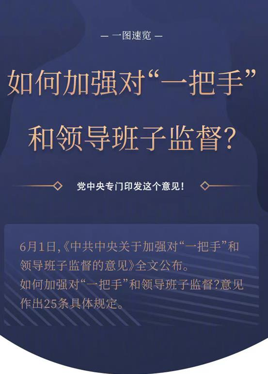 """如何加強對""""一把手""""和領導班子監督?黨中央專門印發這個意見!"""