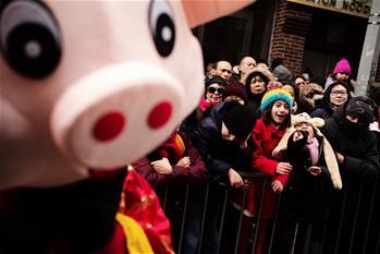 紐約唐人街舉辦新春大遊行