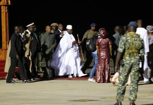 岡比亞前總統賈梅離開岡比亞