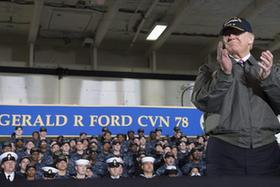 """特朗普要建""""史上最大""""海軍"""