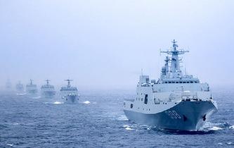 6艘登陸艦編隊出海實戰演練