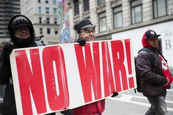美國紐約舉行反戰集會