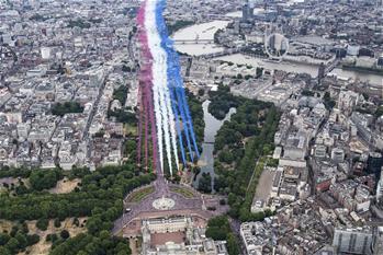英國皇家空軍舉行100周年慶典