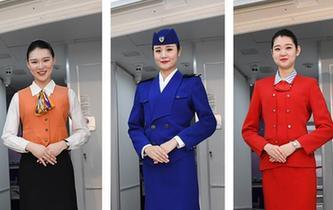 公眾開放日活動上的空乘制服秀