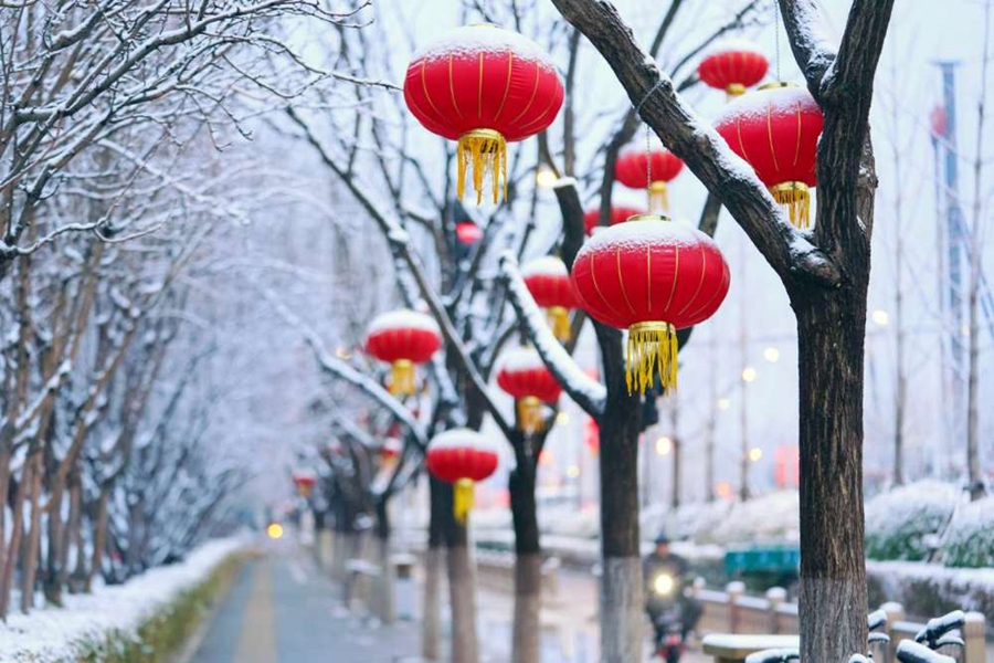 一觉醒来,北京又下雪了!雪景图新鲜出炉