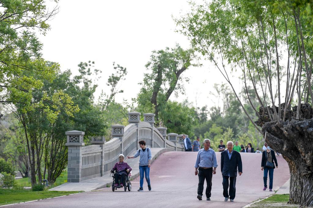 """贺兰山昔日矿坑""""逆袭""""为""""网红""""公园"""