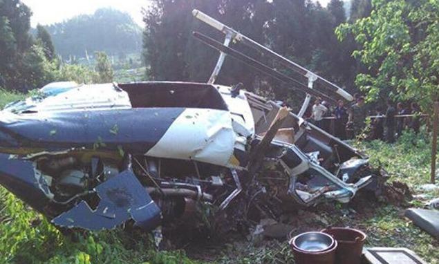 四川乐至县境内一直升机坠落 1名飞机驾驶员死亡