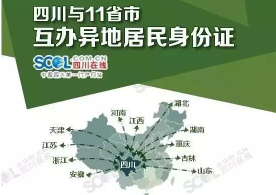 7月起 四川與11省份可以異地互辦身份證