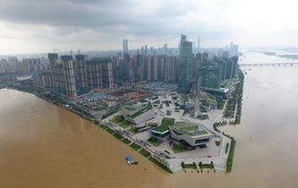 長沙湘江水位創39.51米的歷史新高