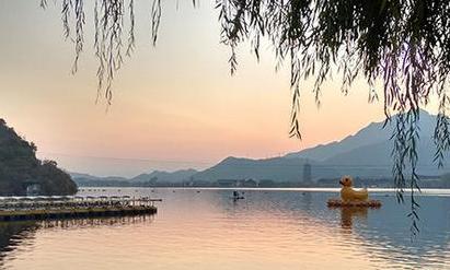 北京雁棲湖秋日美景