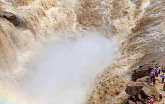 航拍黃河壺口瀑布