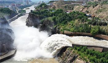 黃河劉家峽水庫排沙泄洪