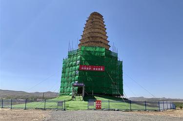 內蒙古赤峰市千年遼塔搶救性加固完成