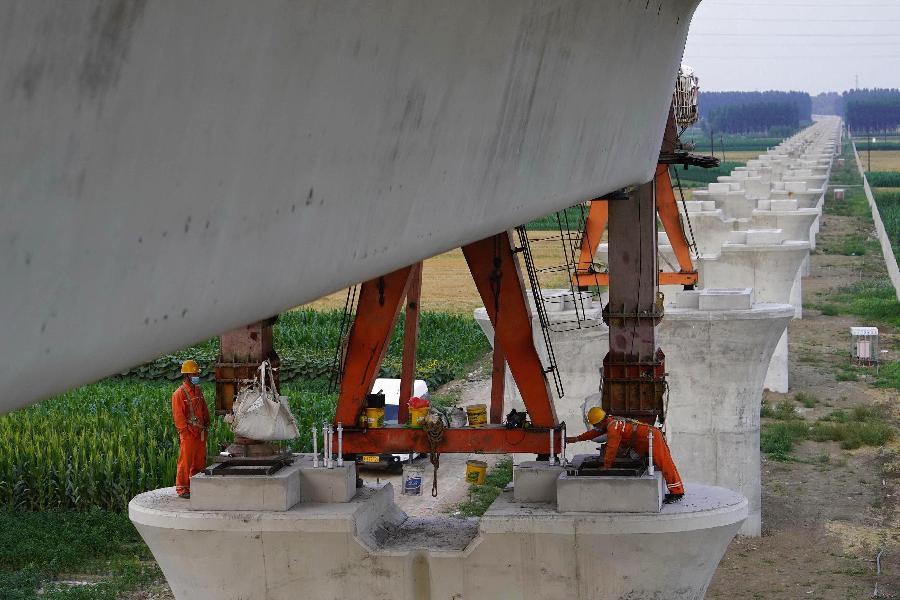 京唐城際鐵路建設正酣