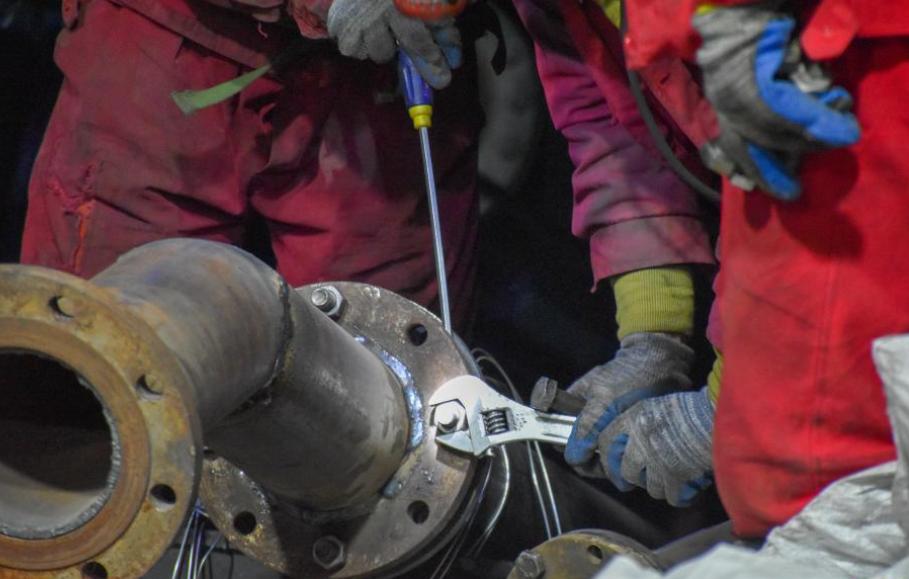 新疆豐源煤礦礦井內部一些地方可以積存空氣
