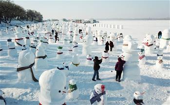 2019個雪人亮相冰城