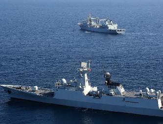 第二十四批護航編隊舉行綜合科目演練