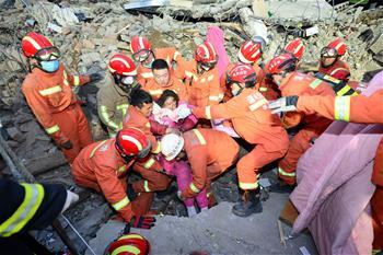 溫州文成民房倒塌被埋9人均找到 7人遇難