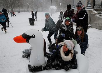 美國東北部暴雪天氣