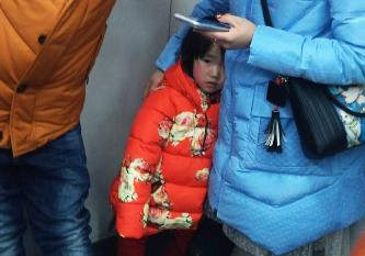 """地鐵上的""""春運"""""""