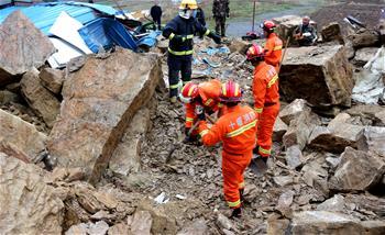 湖北房縣突發山體滑坡5人被埋 其中2人死亡