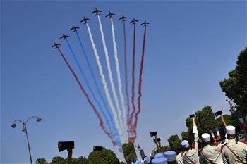 法國舉行國慶閱兵儀式
