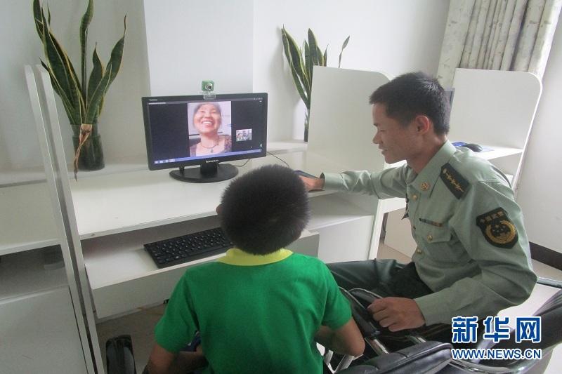 福建平潭伯塘视频派出所留守关爱茶艺为母亲节儿童边防演示图片