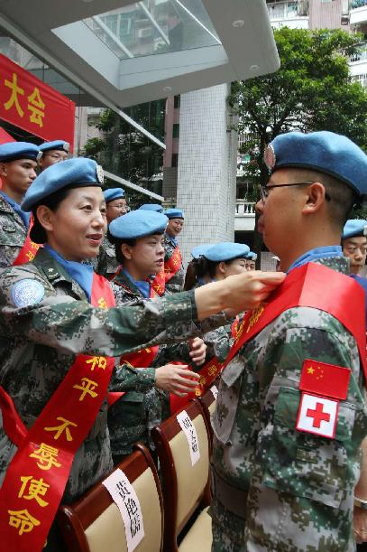 中国第17批赴黎维和医疗分队第一梯队部署到位
