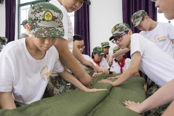 这个暑假,他们在国防科技探究体验营里过天外飞仙插曲