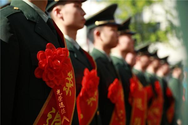 卫星图片找飞机执勤第三支队举办2019年夏秋季复退士兵退役仪式