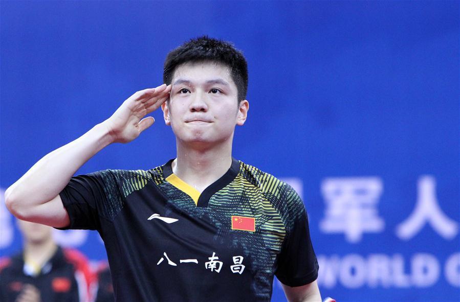 中國隊收獲軍運會乒乓球首枚金牌