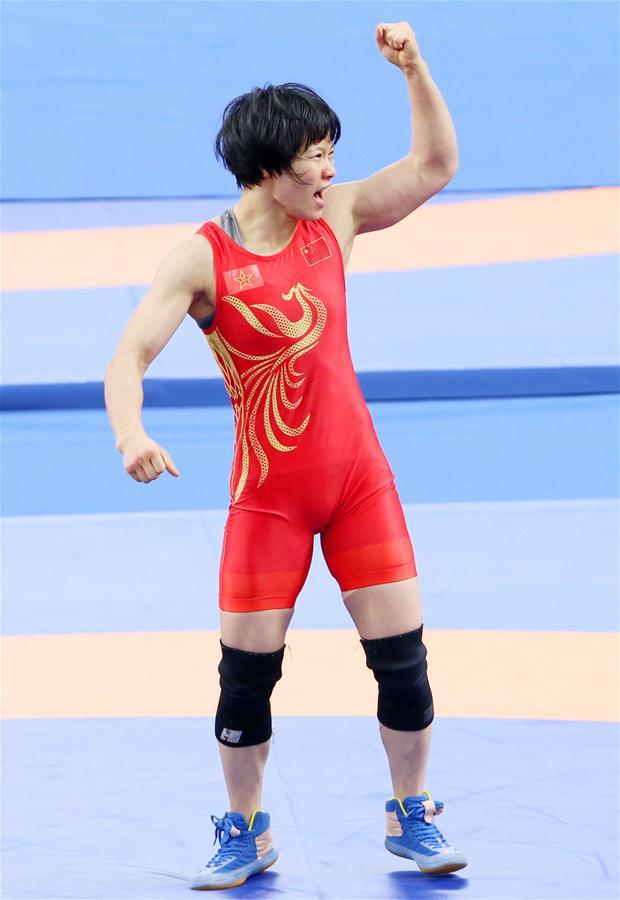 (军运会)(2)摔跤——女子自由式50公斤级决赛:李玉燕夺金