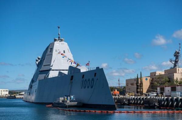 """美国""""朱姆沃尔特""""级驱逐舰交付太平洋舰队"""